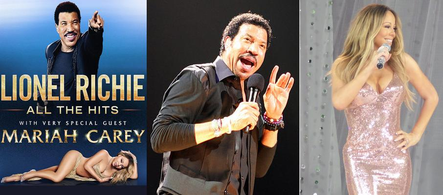 Lionel Richie with Mariah Carey at Key Arena