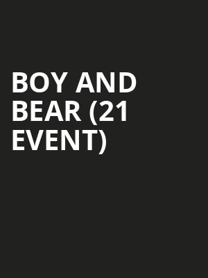Boy and Bear (21+ Event) at Sunset Tavern