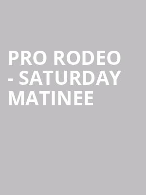 Pro Rodeo - Saturday Matinee at Puyallup Fairgrounds
