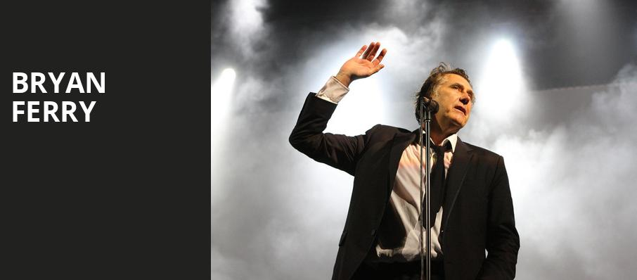 Bryan Ferry, Moore Theatre, Seattle