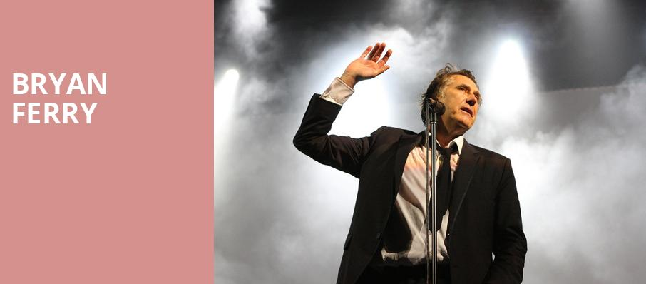Bryan Ferry, Chateau St Michelle, Seattle