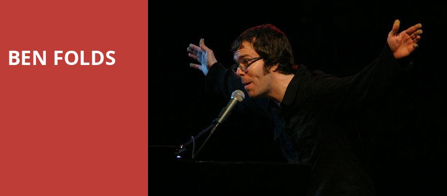 Ben Folds, Moore Theatre, Seattle