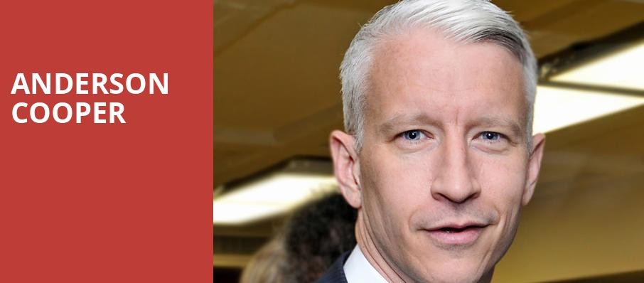 Anderson Cooper, Paramount Theatre, Seattle