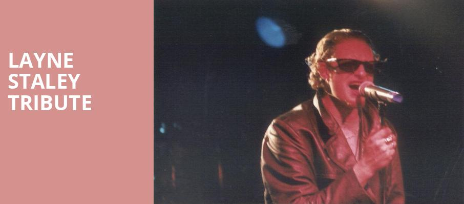 Layne Staley Tribute, Showbox Theater, Seattle