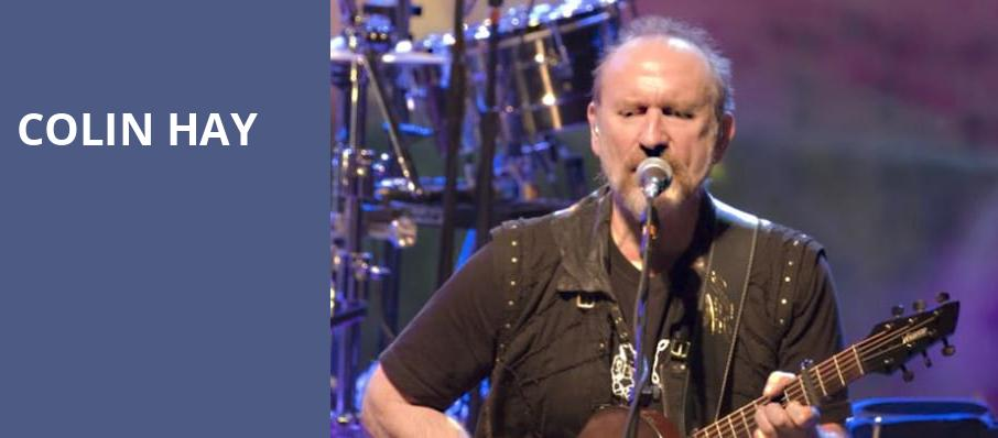 Colin Hay, Benaroya Hall, Seattle