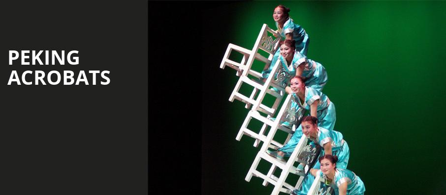 Peking Acrobats, Pantages Theater, Seattle